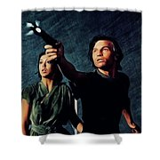 Jenny Agutter And Michael York, Logan's Run Shower Curtain