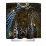 Jerez De La Frontera Cathedral Dome From Inside Cadiz Spain Shower Curtain