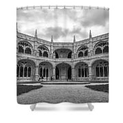 Jeronimos Monastery Cloister Lisbon Shower Curtain
