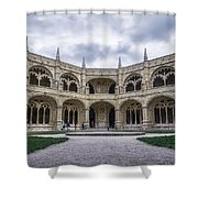 Jeronimos Monastery Cloister Shower Curtain