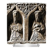 Jerpoint Abbey Irish Tomb Weepers Saints County Kilkenny Ireland Sepia Shower Curtain
