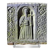 Jerpoint Abbey Weepers Saints James Philip And Matthias County Kilkenny Ireland Shower Curtain