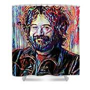 Jerry Garcia Art - The Grateful Dead Shower Curtain