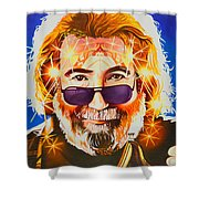 Jerry Garcia-dark Star Shower Curtain