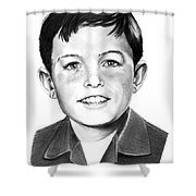 Jerry Mathers-as The Beaver-murphy Elliott Shower Curtain