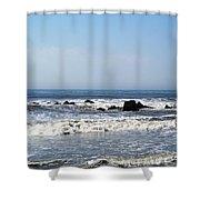 Jersey Shore Morning - Atlantic City Shower Curtain