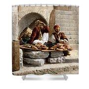 Jerusalem - Bread Seller Shower Curtain