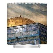 Jerusalem - Dome Of The Rock Sky Shower Curtain