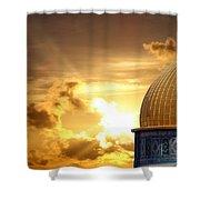Jerusalem - The Morning Light Shower Curtain