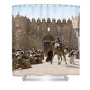 Jerusalem: Caravan, C1919 Shower Curtain