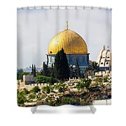 Jerusalem Dome Of The Rock  Shower Curtain