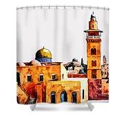 Jerusalem Domes And Minarets Shower Curtain