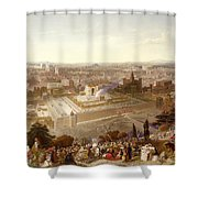 Jerusalem In Her Grandeur Shower Curtain by Henry Courtney Selous