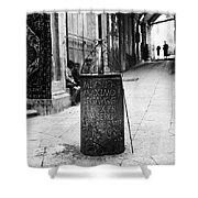 Jerusalem: Roman Pillar Shower Curtain