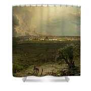 Jerusalem View From The Mount Of Oliv Shower Curtain
