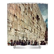Jerusalem  Wailing Wall - To License For Professional Use Visit Granger.com Shower Curtain