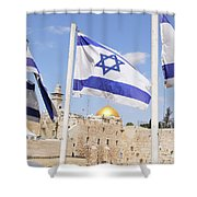 Jerusalem Wailing Wall Shower Curtain