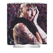 Jes Remixed Shower Curtain