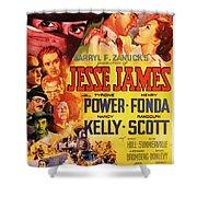 Jesse James 1939 Shower Curtain