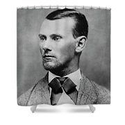 Jesse James -- American Outlaw Shower Curtain