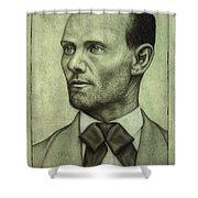 Jesse James Shower Curtain by James W Johnson