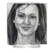 Jessica Alba Portrait Shower Curtain