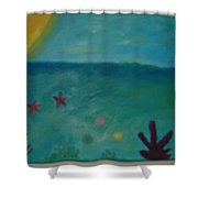 Jessica's Reef Shower Curtain
