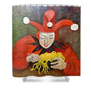 Jester And Spaghetti Shower Curtain