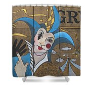 Jester In Blue Shower Curtain