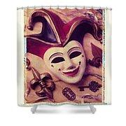 Jester Mask Shower Curtain