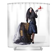 Jester With Wine Barrel Shower Curtain by Jorgo Photography - Wall Art Gallery