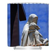 Jesus And Maria Shower Curtain by Susanne Van Hulst