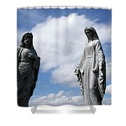 Jesus And Mary Shower Curtain