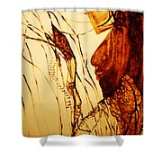 Jesus And Mother Mary  Shower Curtain