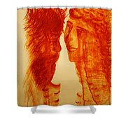 Jesus And Our Lady On Calvary Shower Curtain