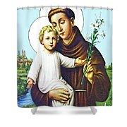 Jesus And Saint Anthony Shower Curtain