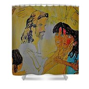 Jesus And The Children Shower Curtain