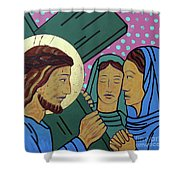 Jesus And The Women Of Jerusalem Shower Curtain