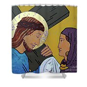 Jesus And Veronica Shower Curtain