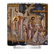 Jesus Arrest And Preparation For Crucifiction Shower Curtain