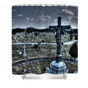 Jesus At Calvary Shower Curtain