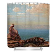 Jesus By The Sea Shower Curtain