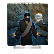Jesus Christ- And Surely I Am With You Always Shower Curtain