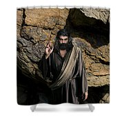Jesus Christ- Be Blessed And Prosper Shower Curtain
