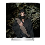 Jesus Christ- Be Still And Know That I Am God Shower Curtain