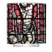 Jesus Christ Crucifixtion Stained Glass Shower Curtain