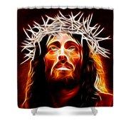 Jesus Christ Our Savior Shower Curtain by Pamela Johnson