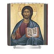 Jesus Christ - Pantocrator - Rljcp Shower Curtain