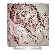 Jesus Crucified Shower Curtain