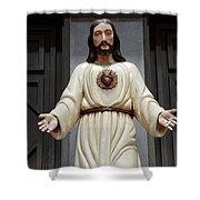 Jesus Figure Shower Curtain
